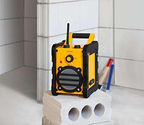 Preisvergleich Produktbild Baustellen-Radio (Werkstatt-Radio, Bauradio inkl. Netzteil, 2-Band-Radio, Mp3-Kompatibel, Audioline zum Anschluss An Pc, Laptop, Casettenplayer, CD-Player U.V.M, Bereitschaftsanzeige)