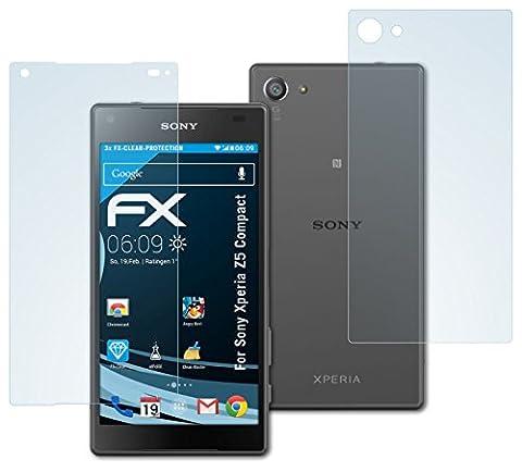Sony Xperia Z5 Compact Schutzfolie - 3er Set atFoliX FX-Clear kristallklare Folie Displayschutzfolie