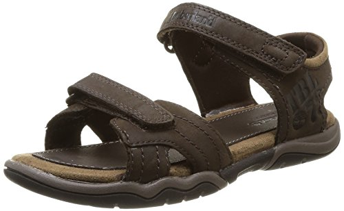 Timberland Active Casual Sandal_Oak Bluffs Leather 2Strap, Unisex-Kinder Sandalen, Braun (Dark Brown), 38 EU