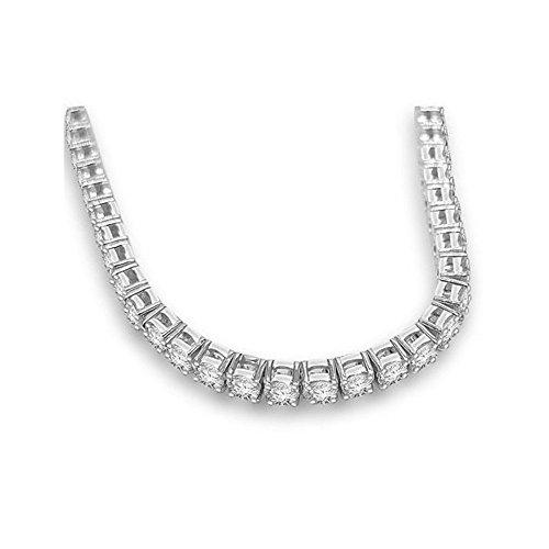 4.72ct H/SI1 Diamant Tennis Armband für Damen mit runden Brillantschliff diamanten in 18kt (750) Weißgold (Tennis-küken)
