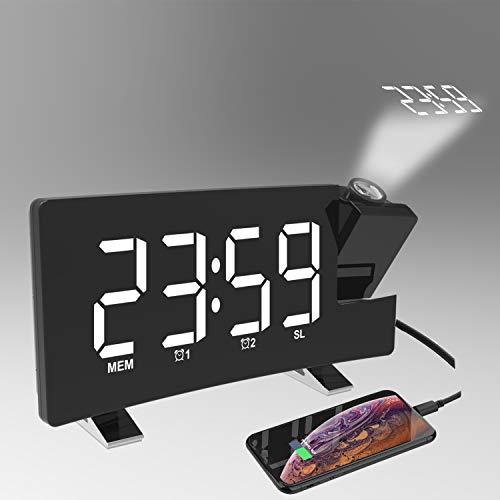Radio Despertador Digital Proyector, FM Reloj de Proyección, Despertadores Digitales, Reloj de Pantalla...
