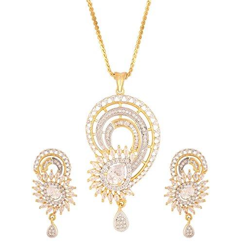 swasti-jewels-womens-american-diamond-peacock-cz-zircon-fashion-jewellery-set-pendant-earrings-white