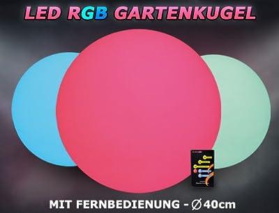 LED RGB Gartenkugel 40cm mit Farbwechsel für Garten o. Wohnbereich von Pridea-Products auf Lampenhans.de