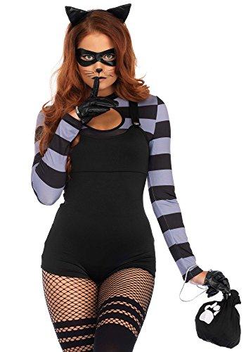 er Damen-Kostüm von Leg Avenue Bankräuberin Diebin Einbrecherin Verbrecherin Banditin, Größe:M (Katze Einbrecher Halloween-kostüme Für Erwachsene)