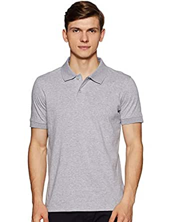 6 Degrees Men's Solid Regular fit Polo (6D-PBW-04- Grey S)
