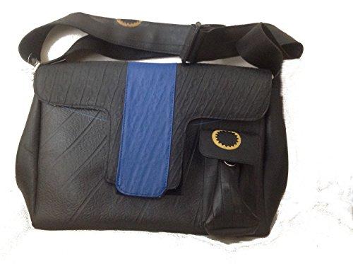 ecologica-borsa-fascia-blu-riciclaggio-di-pneumatici