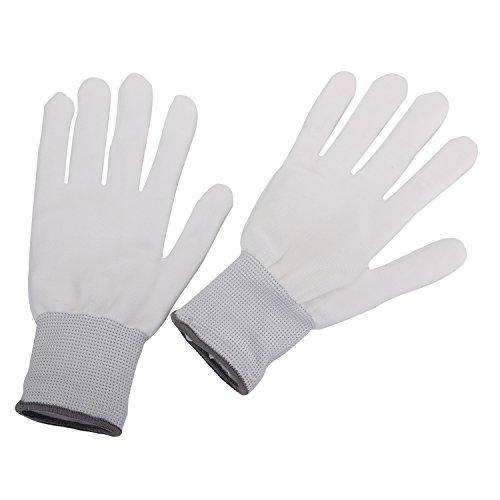 Merssavo Light Up LED Skeleton Hand Handschuhe Perfekt für Clubbing, Rave, Geburtstag, EDM, Disco, Weihnachten, Halloween und Dubstep Party (grünes Licht) (Light Up Rave Handschuhe)