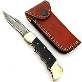 PAL 2000 SGMA-9380 Handgemachtes Damaststahl-faltendes Taschenmesser/Küchenmesser/Billet/Bar/Messer/Camping mit Scheide