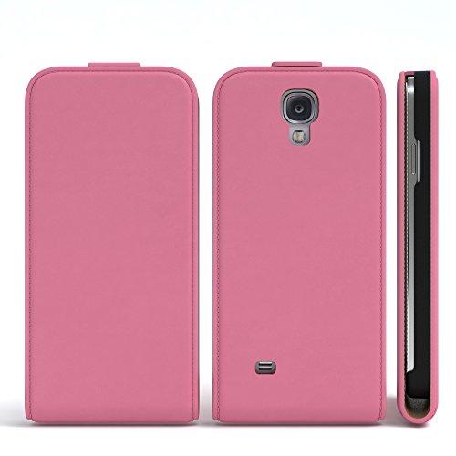 Samsung Galaxy S4 / S4 Neo Hülle - EAZY CASE Premium Flip Case Handyhülle - Schutzhülle aus Leder zum Aufklappen in Schwarz Rosa