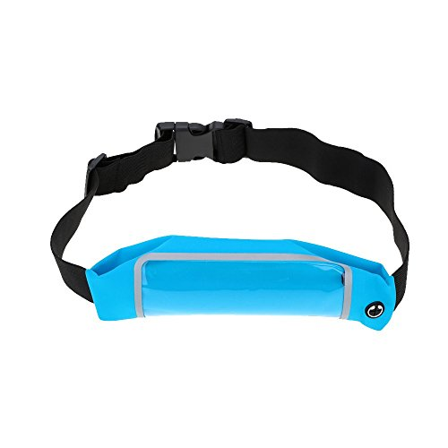 Generic 4.7 Inch Touch Screen Waist Pack Pouch For Running Sports - Blue