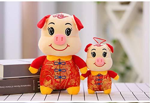 Kostüm Maskottchen Schwein - yfkjh Warenjahr, Tierkreisschwein neu, Tang geladenes Schwein, Schweinejahr Maskottchen, Plüschtiere 27cm Weißgesichtige Tang Kostüm
