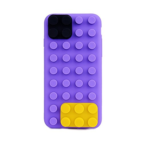 WKKIT Case texture modulaire pour iphone 6 &6s silicone ( Color : Yellow ) Purple