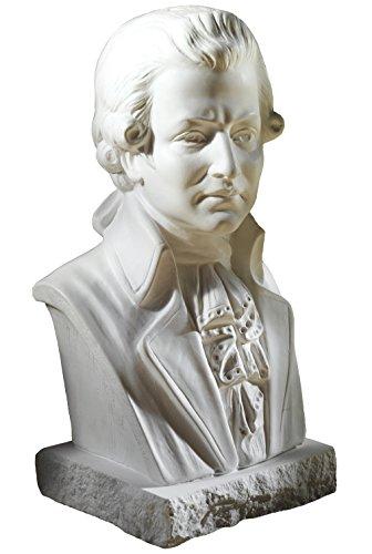 Büste Wolfgang Amadeus Mozart 22cm weißer Alabastergips