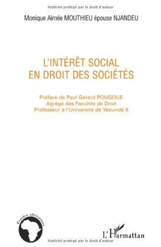 L'intérêt social en droit des sociétés