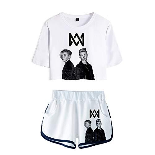GBBAK Mädchen O-Ausschnitt Kurzarm 3D Digitaldruck Marcus und Martinus MM Sommerkleider Nette 3D Top Kleider