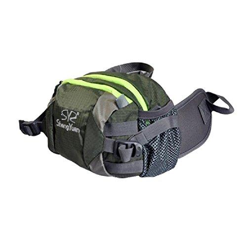 ZC&J Outdoor-Klettertaschen, Umhängetaschen, Männer und Frauen universell, multifunktionale tragbare Taschen, Reiten, Camping, Freizeit-Rucksack Green