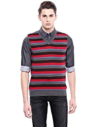 Arrow New York Mens Cotton Sweater (AKGY8316_Purple_Small_FS)