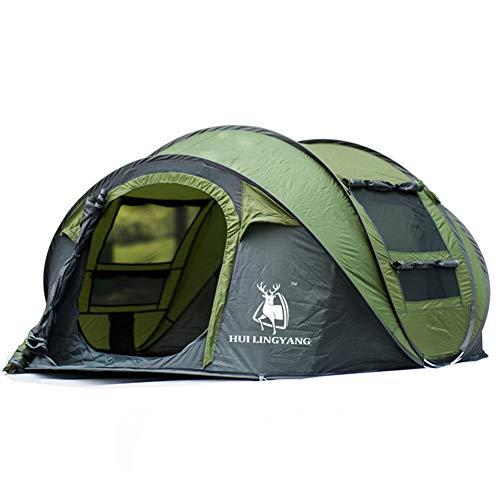 LHY TENTS Sofortige Pop-up-Zelte für große Familien, grünes Campingzelt, tragbares Festzelt für 3-4 Personen, Unisex
