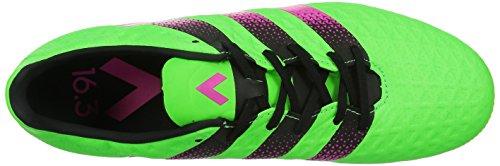 adidas Ace 16.3 Ag, Scarpe da Calcio Uomo, Blu, Talla Unica Verde / rosa / nero (Versol / Rosimp / Negbas)