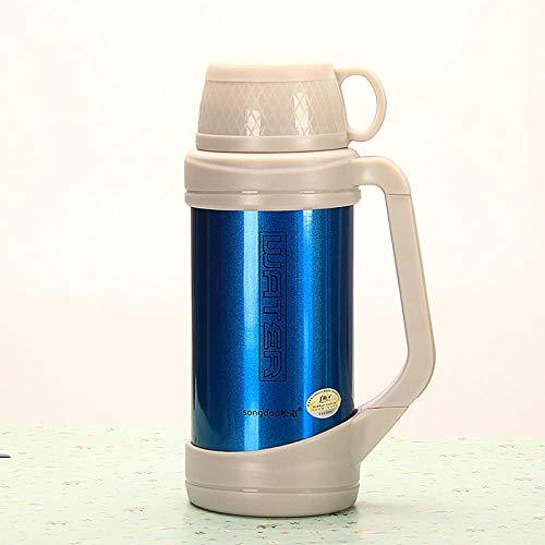 WENSISTAR Safe loc Verschluss Edelstahl Isolierbecher,Edelstahl-Isolierflasche, Auto-Isoliertopf mit großem Fassungsvermögen, Außensportflasche @ Blue_2L,Sport Fitness Fahrrad Wasserflasche