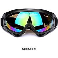 Aubess kratzfest winddicht Outdoor Bike Radfahren Objektiv Große Rahmen Gläser Skifahren Eyewear Snowboarden Schutzbrille, durchsichtig