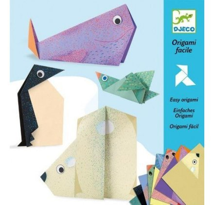 Origami facile Les animaux polaires Djeco