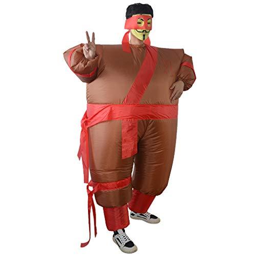 Unbekannt MagiDeal Aufblasbare Ninja Kostüm Erwachsene Cosplay Kostüm Fatsuit Fett Anzug für Party Karneval und - Aufblasbare Ninja Kostüm