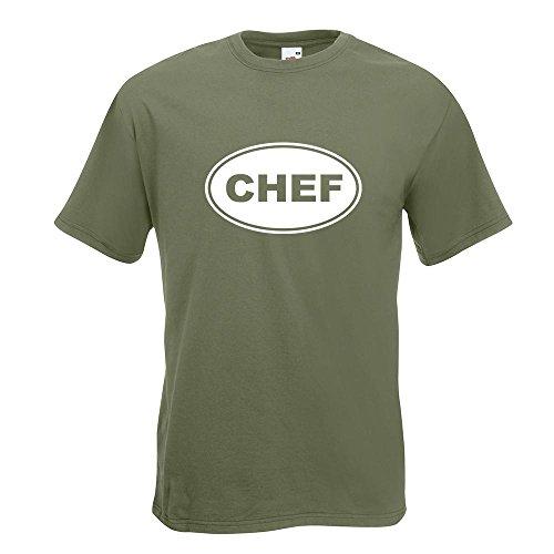 ... Oberteil Baumwolle Print Größe S M L XL XXL Olive. KIWISTAR - Chef T- Shirt in 15 verschiedenen Farben - Herren Funshirt bedruckt Design Sprüche