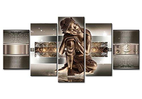 murando Cuadro de cristal acrílico 200x100 cm 5 Partes - 2 tamanos opcionales - Cuadro de acrílico TOP Cuadro - Impresion en calidad fotografica – Buda h-C-0034-k-m 200x100 cm 9