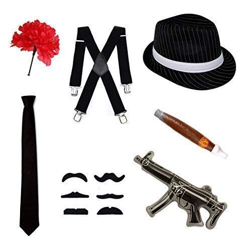 Verschiedene Erwachsene / Teenager Kostüm - Schwarz - Teenager Gangster Kostüm