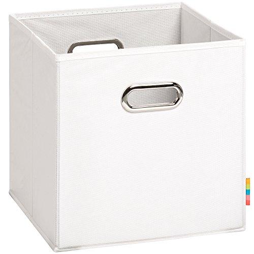 Schmetsdorf (H&S) Aufbewahrungsbox MIA - Faltbox - Korb - 28x28x28 cm - (Weiß) (Regal Körbe)