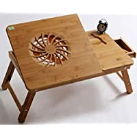 Multi-functional Laptop Cooling Wooden Table/Bamboo portable bed tray