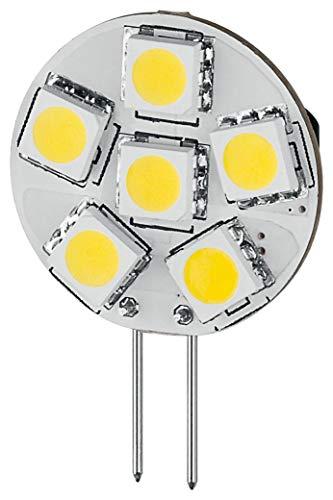 Goobay 30337 LED-Chip für G4 Lampensockel mit 6 SMD LEDs Leuchtfarbe tageslicht weiß -