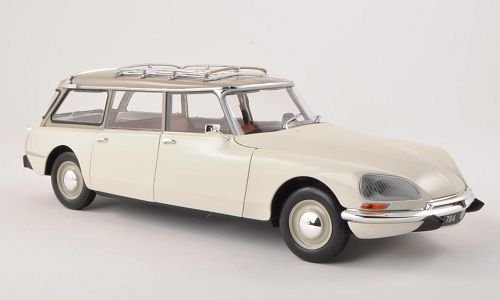 Citroen-DS-21-Break-weissgrau-1970-Modellauto-Fertigmodell-Norev-118