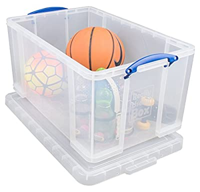 Really Useful Storage Box Robust Stackable Single 84 Litre Unit W444xD710xH380mm Clear - Ref 84C