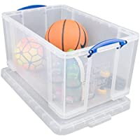 Really Useful Box 84 Litre Storage Box, Clear