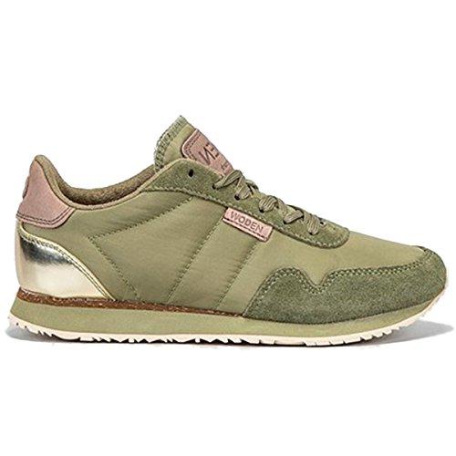 Woden, Sneaker donna, verde (verde tiglio), 40 EU