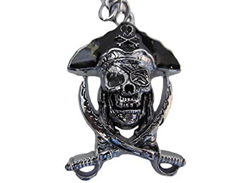 Grand Crâne de pirate _amp; sabres de Croix en Métal Porte-clé Motif sac à main'Idée cadeau-Fat-catz-copy-catz-copy-catz-copy-catz