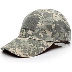 Malloom Unisex Hombres Mujeres Sombrero Gorro Camuflaje Selva Beisbol Ejército Caza Visera Sombrero Sol al Aire Libre Deporte con Velcro (Camuflaje 1#)