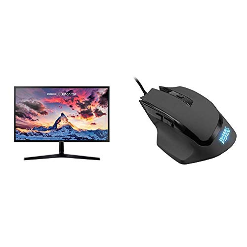 Samsung S24F356F Monitor, 59,8 cm (23,5 Zoll), schwarz & Sharkoon Shark Force Gaming Maus schwarz
