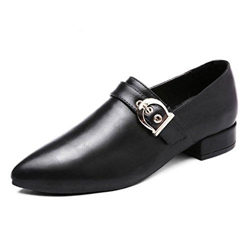 HWF Chaussures femme Chaussures en cuir pointu de printemps simples  chaussures de femmes Chaussures plates de