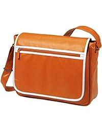 HALFAR - sac rétro sacoche bandoulière étudiant imitation cuir 1807541 - orange - mixte homme/femme