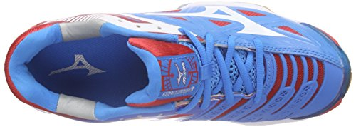 Mizuno  Wave Stealth 3, Chaussures de Handball femme Blau (diva blue/white/chinese red)