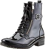 CAPRICE Damen 25100 Combat Boots, Schwarz (Black Patent 18), 39 EU