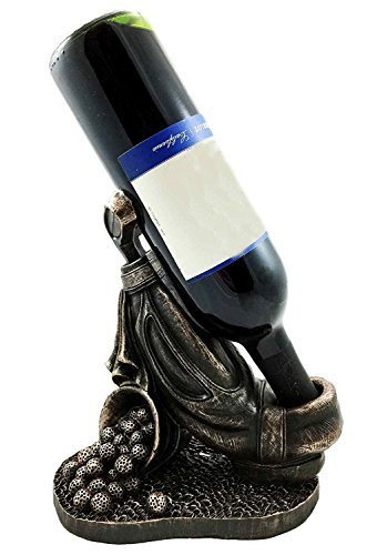 Ebros Professional Golf Cart Bag with Club and Practice Balls Golfer Wine Bottle Holder Figurine Great Present for Passionate Golf Fans
