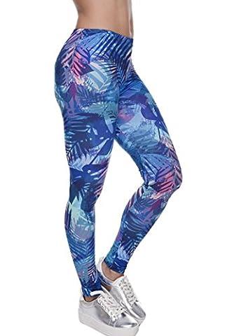 Damen Leggings Sport Yoga Print Hosen Strumpfhose Workout Fitness Running Pants Mehrfarbig One Size