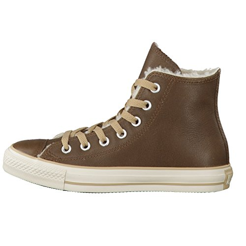 Converse Chuck Taylor All Star Shearling Leather Hi, Baskets mode mixte adulte Marron