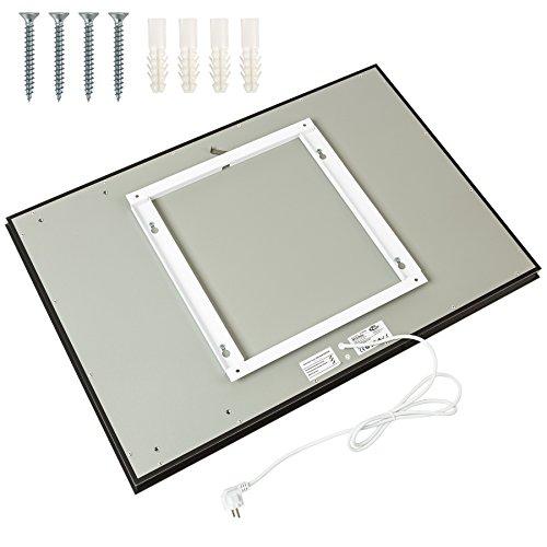 TecTake Spiegel Infrarotheizung Spiegelheizung ESG Glas Elektroheizung Infrarot Heizkörper Heizung inkl. Wandhalterung - diverse Modelle - (650 W | 93x62x4 cm | Nr. 402466) - 3