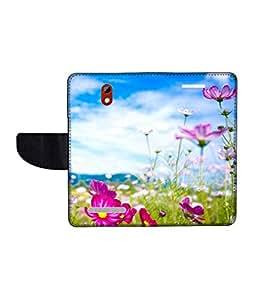KolorEdge Printed Flip Cover For HTC Desire 500 -Multicolor (45KeMLogo11209HTC500)