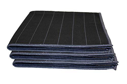 Muxel Carbon Tuch 3 STK. Glaspoliertuch Streifenfrei Fenstertuch Mikrofasertuch -